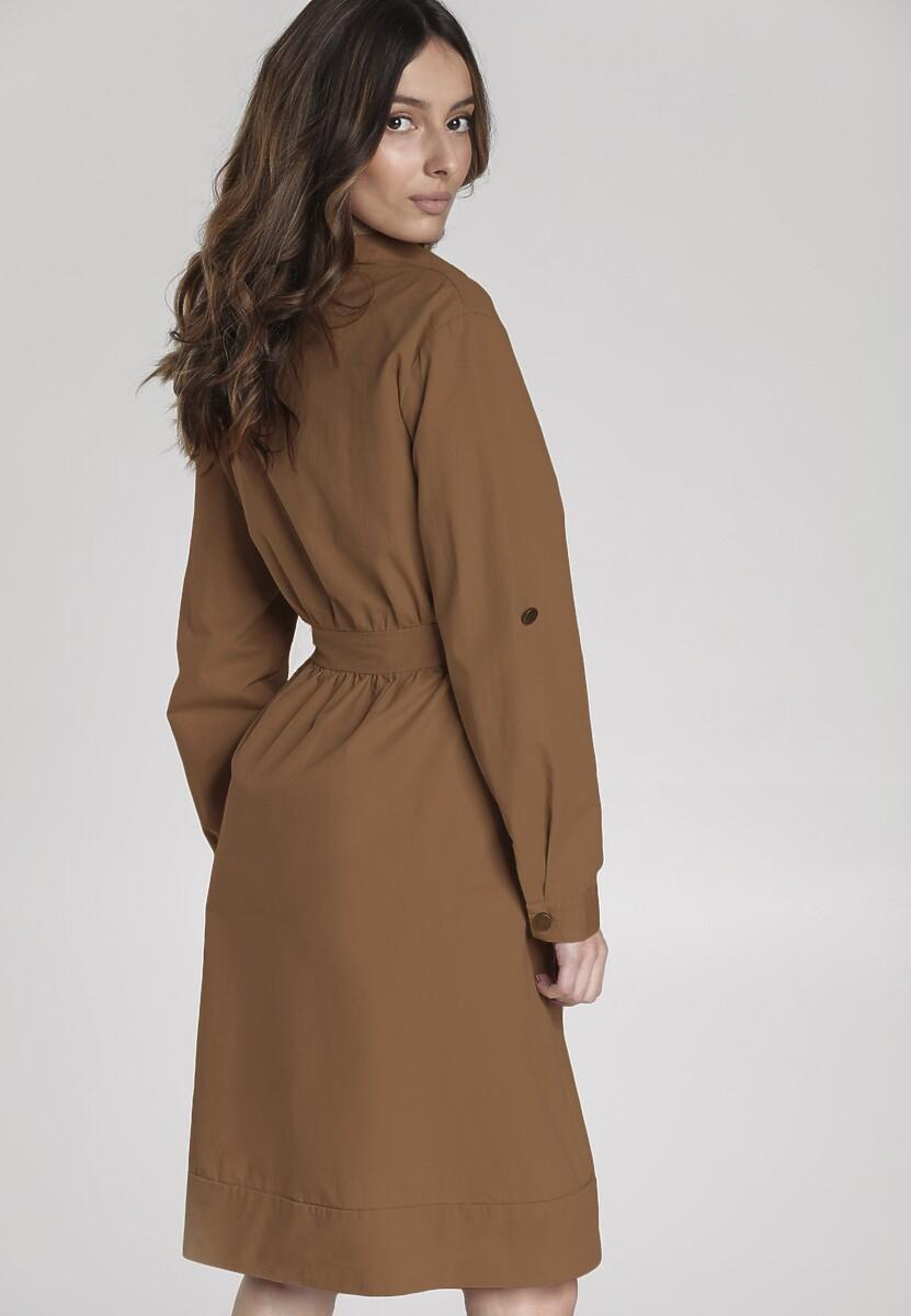 Brązowa Sukienka Amie