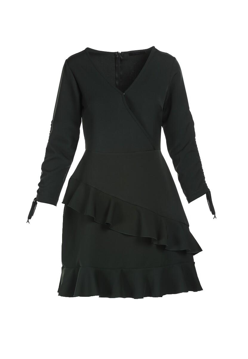 Ciemnozielona Sukienka Synapheme