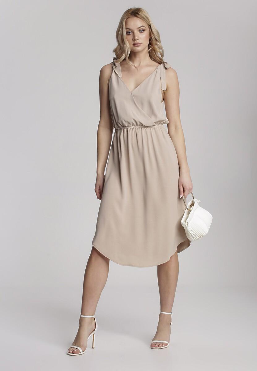 Beżowa Sukienka Hysura