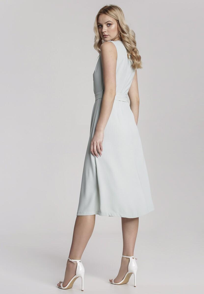 Miętowa Sukienka Adrave