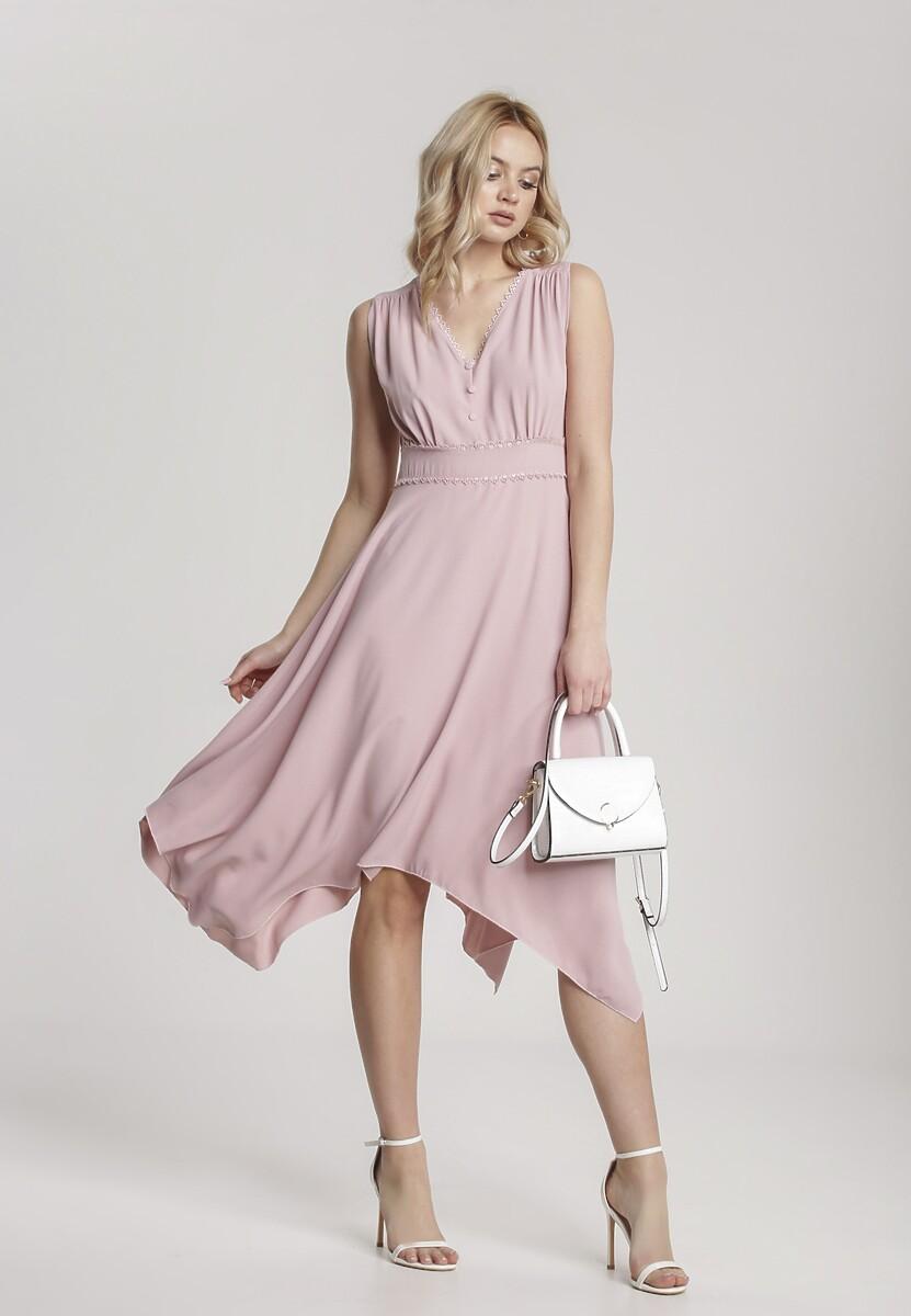 Różowa Sukienka Allunia