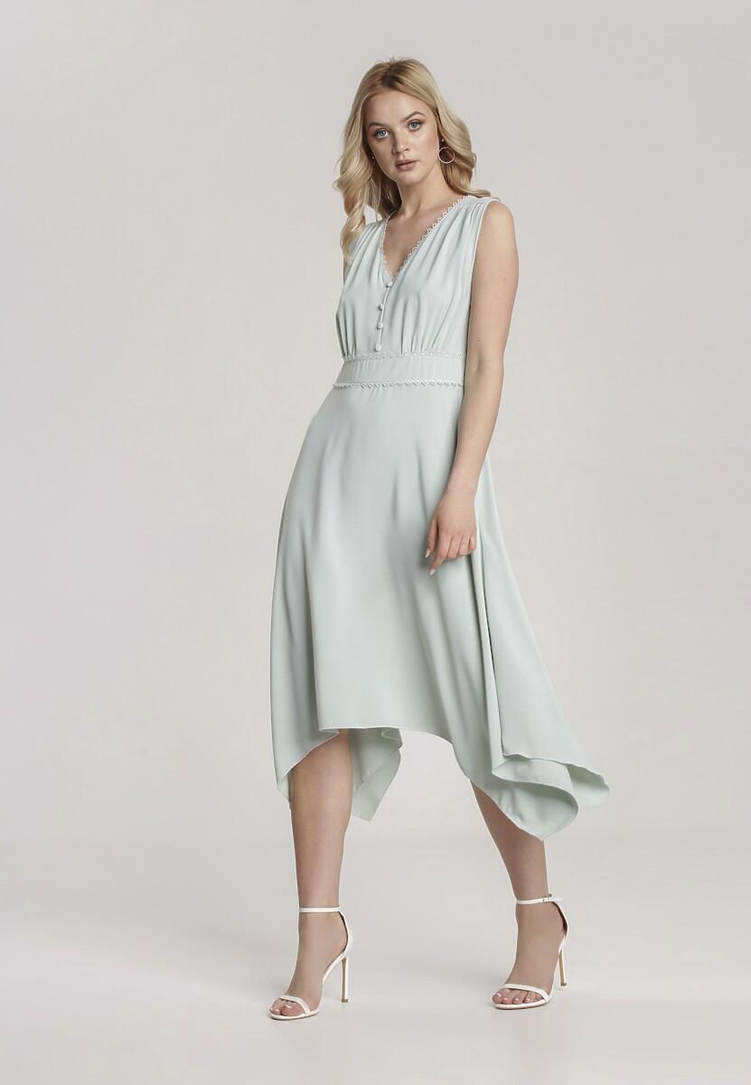 Miętowa Sukienka Allunia