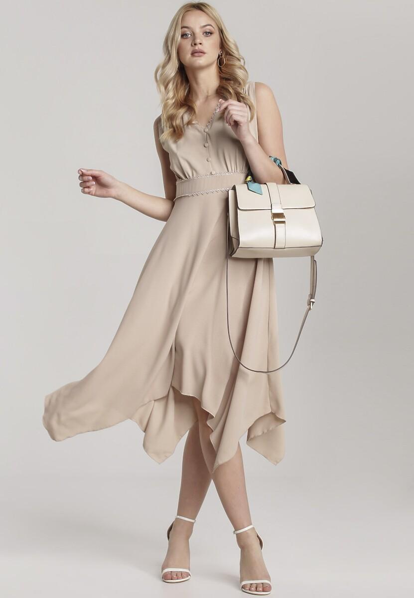Beżowa Sukienka Allunia