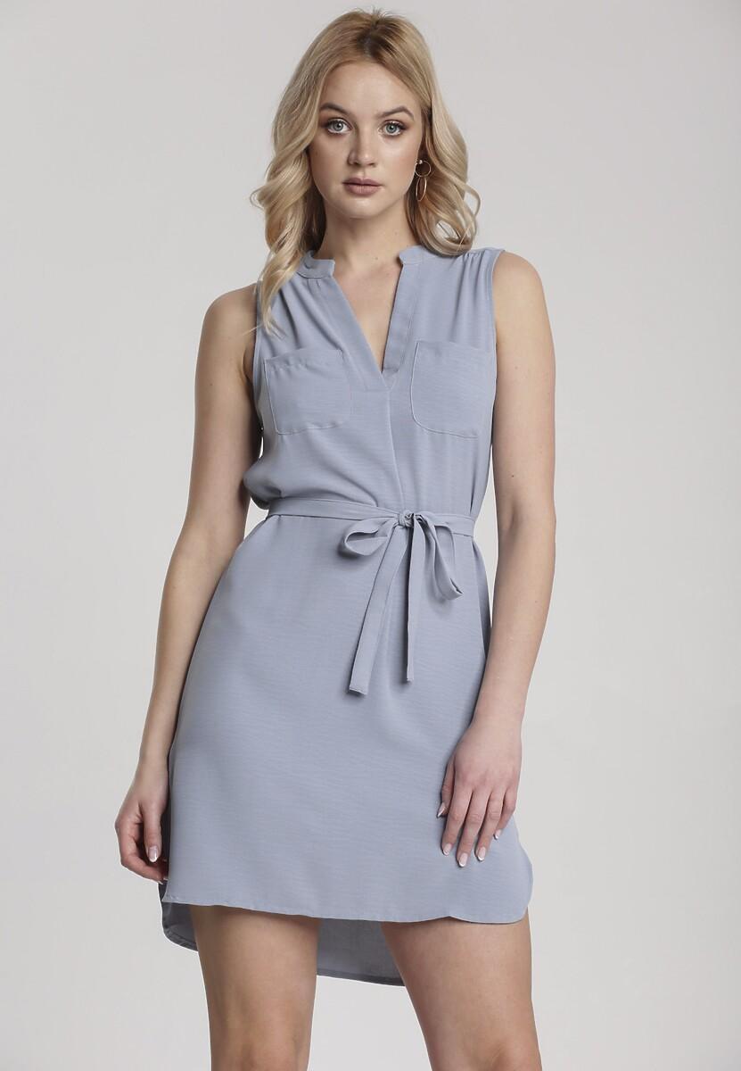 Niebieska Sukienka Saphameni Kod produktu: 117504