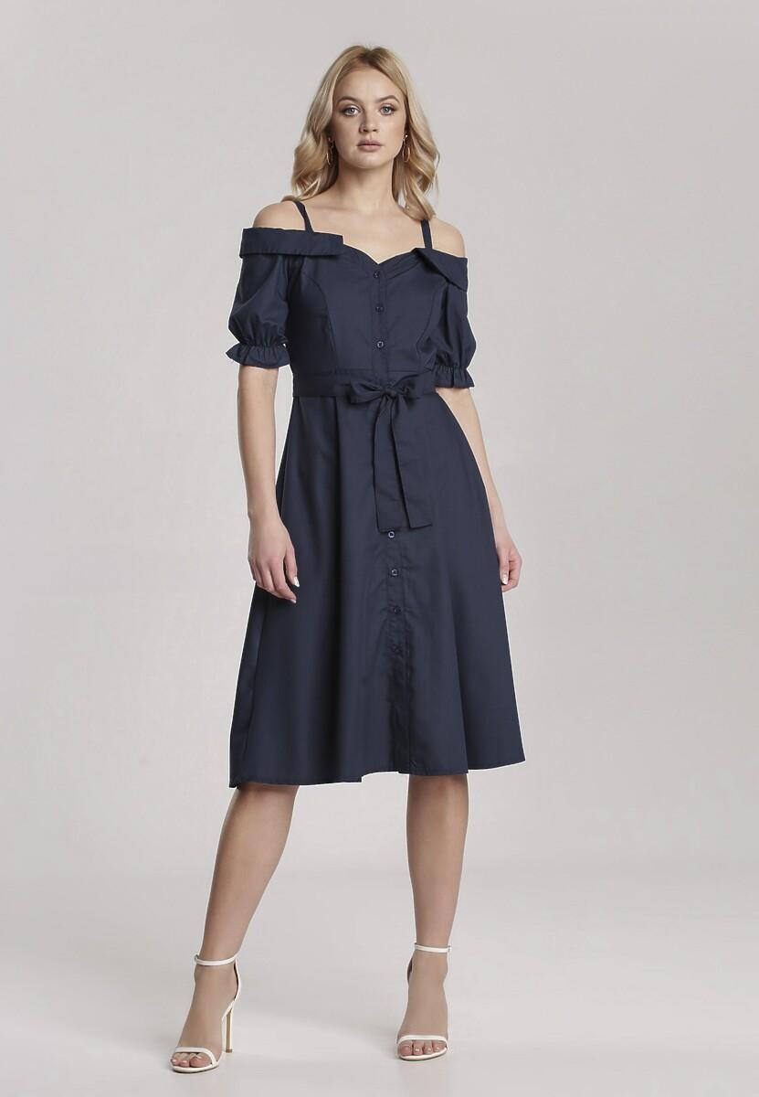 Granatowa Sukienka Evinoe