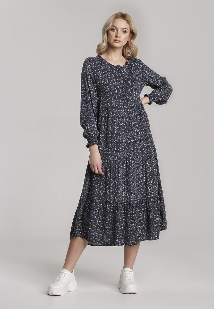 Granatowa Sukienka Aquarinda