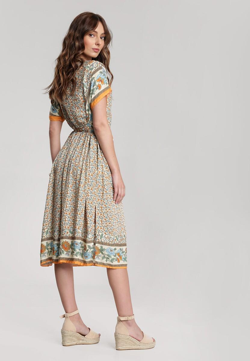 Jasnobeżowa Sukienka Cordelena