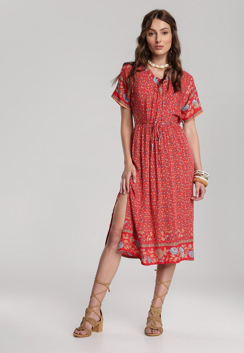 Czerwona Sukienka Cordelena