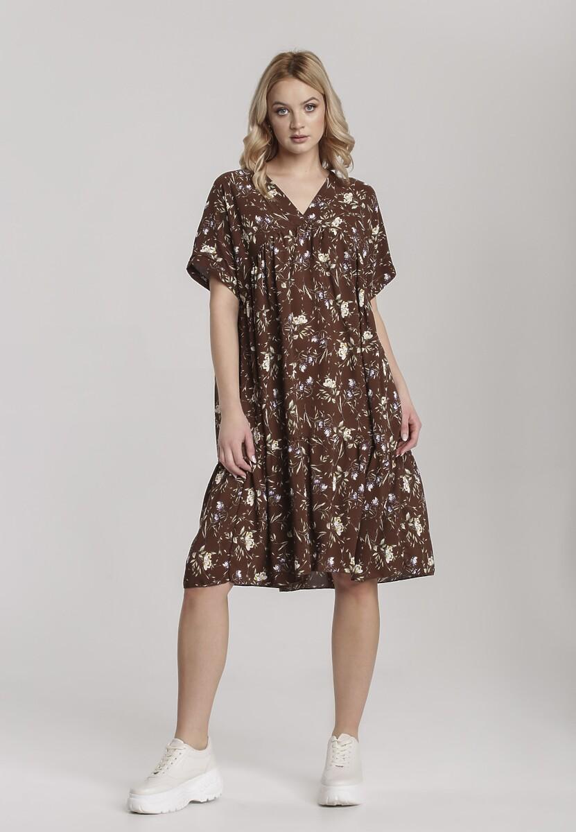 Brązowa Sukienka Aiganophe