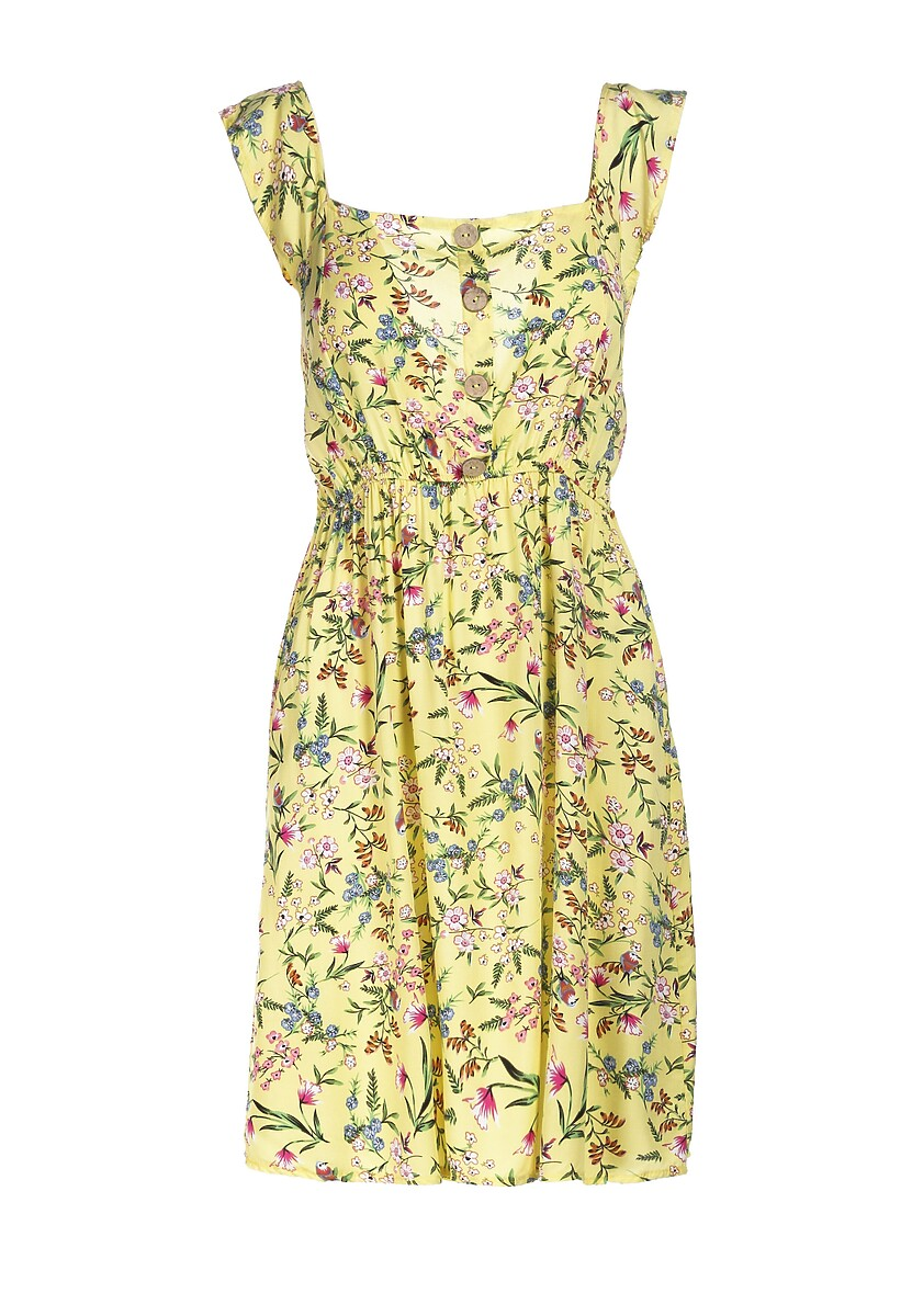 Żółta Sukienka Rherelia