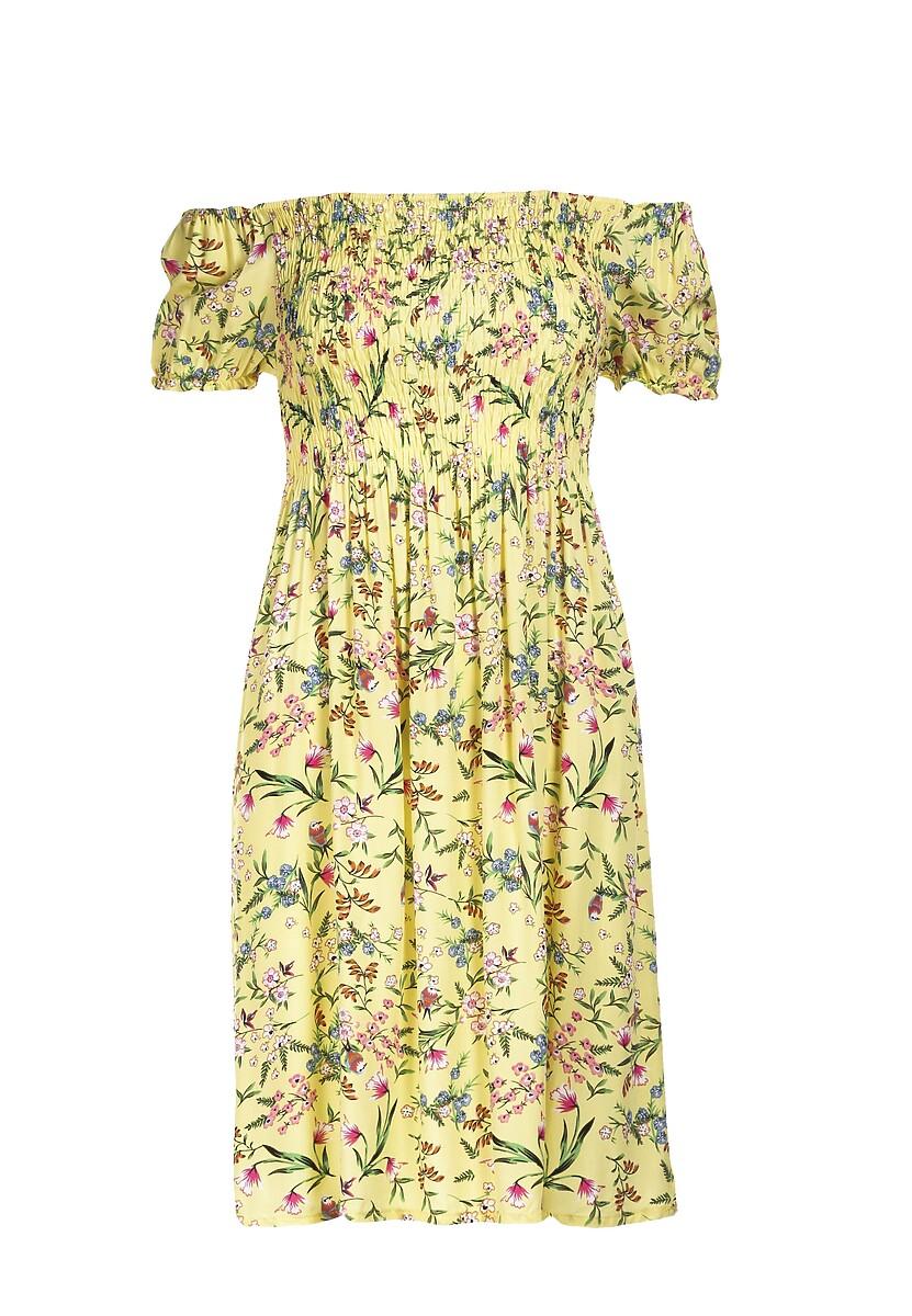 Żółta Sukienka Orasura