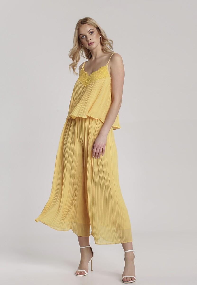 Żółty Komplet Dwuczęściowy Genileh