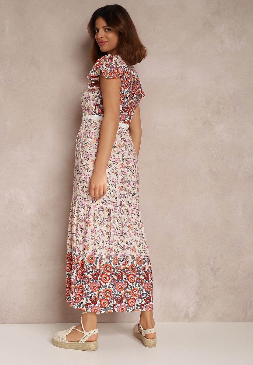 Biało-Różowa Sukienka Vivialora