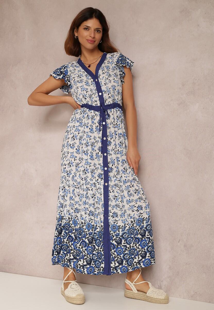 Biało-Niebieska Sukienka Vivialora