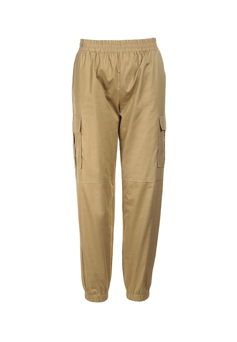 Beżowe Spodnie Halitina