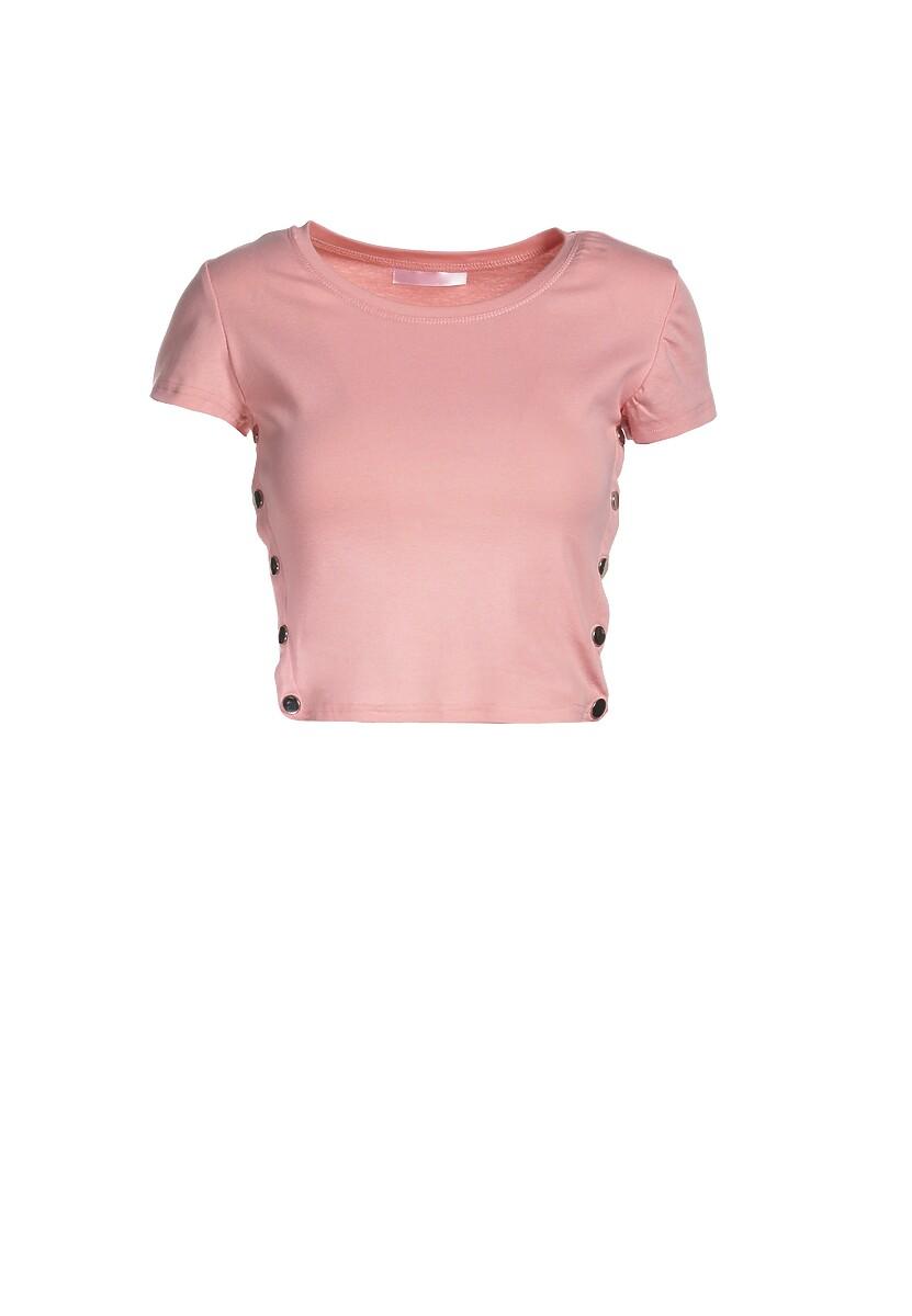Jasnoróżowy T-shirt Malato