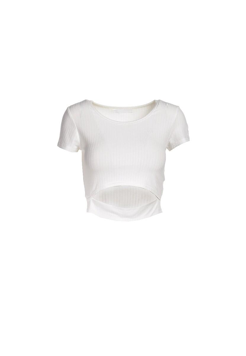 Biały T-shirt Aethegale