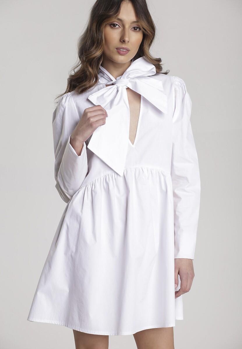 Biała Sukienka Thessaciane