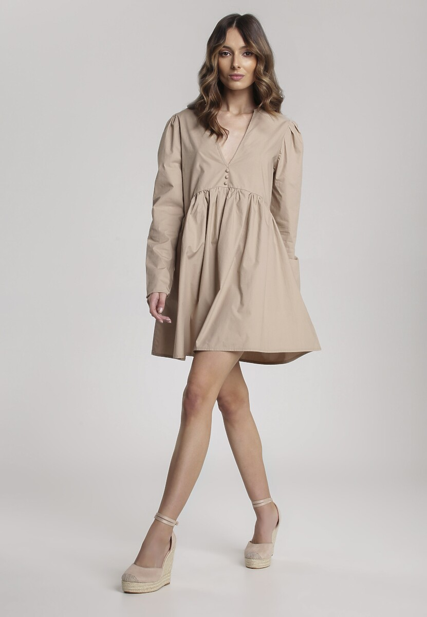 Beżowa Sukienka Genilee