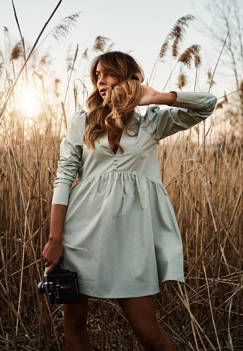 Miętowa Sukienka Genilee