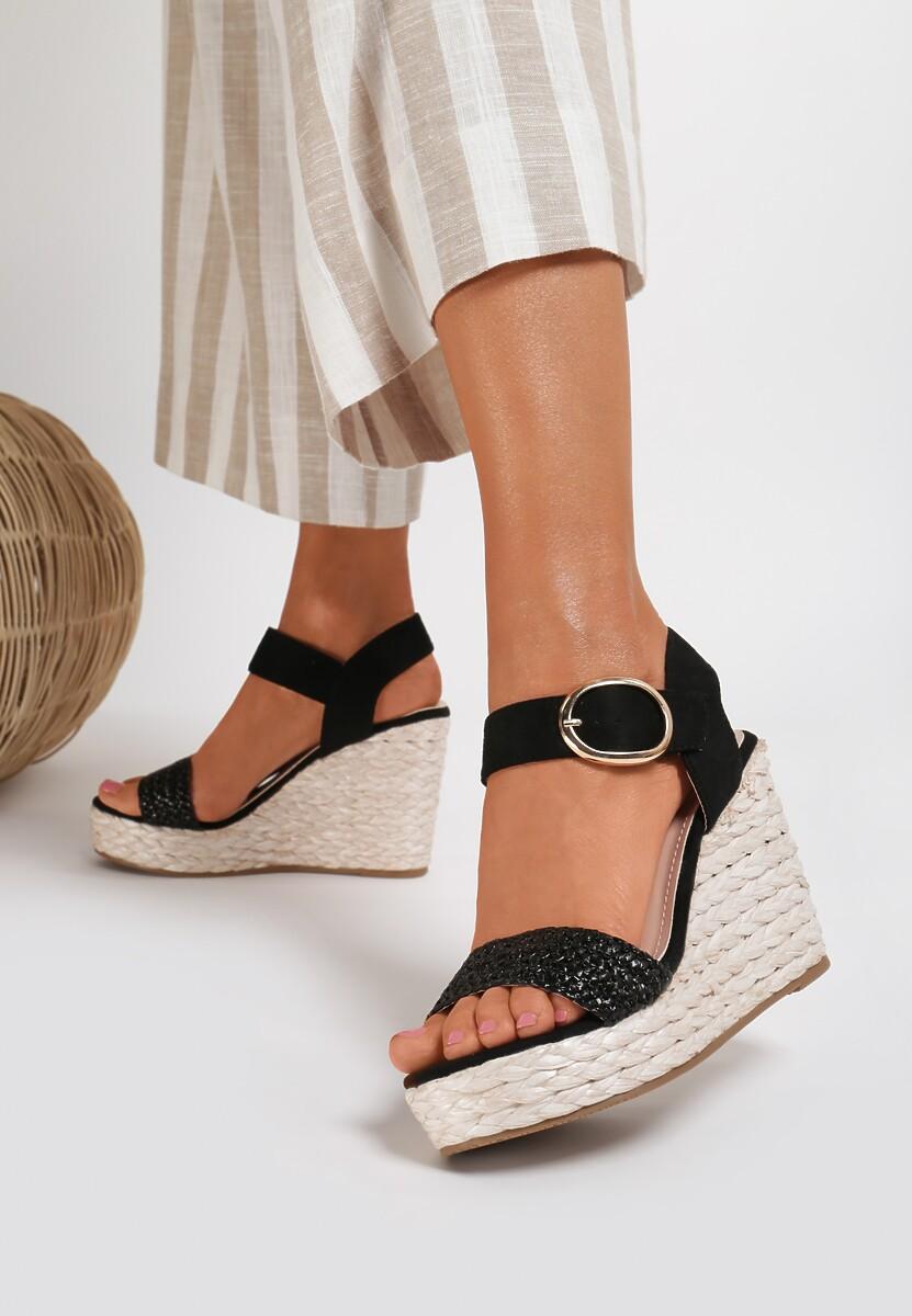 Czarne Sandały Pherolopei
