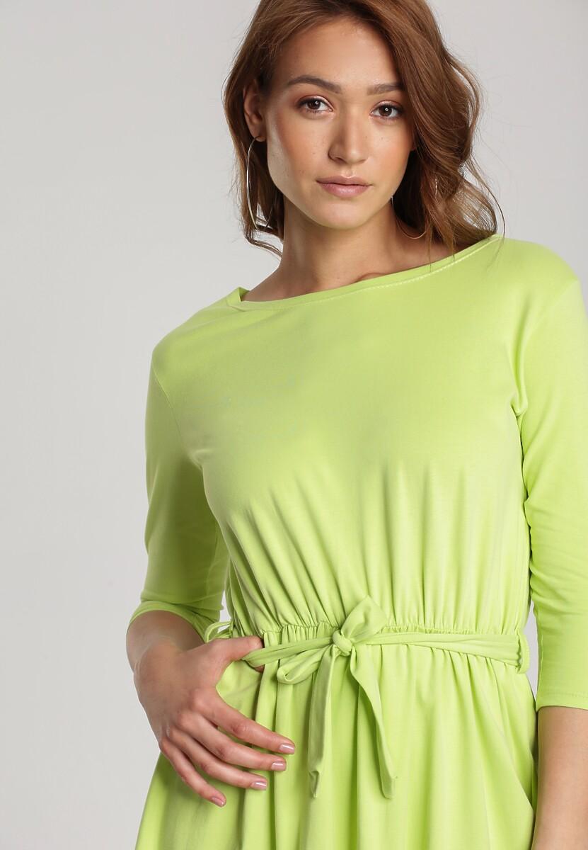 Limonkowa Sukienka Thelxielira