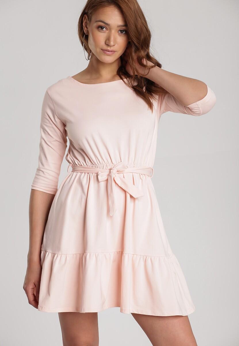 Jasnoróżowa Sukienka Thelxielira