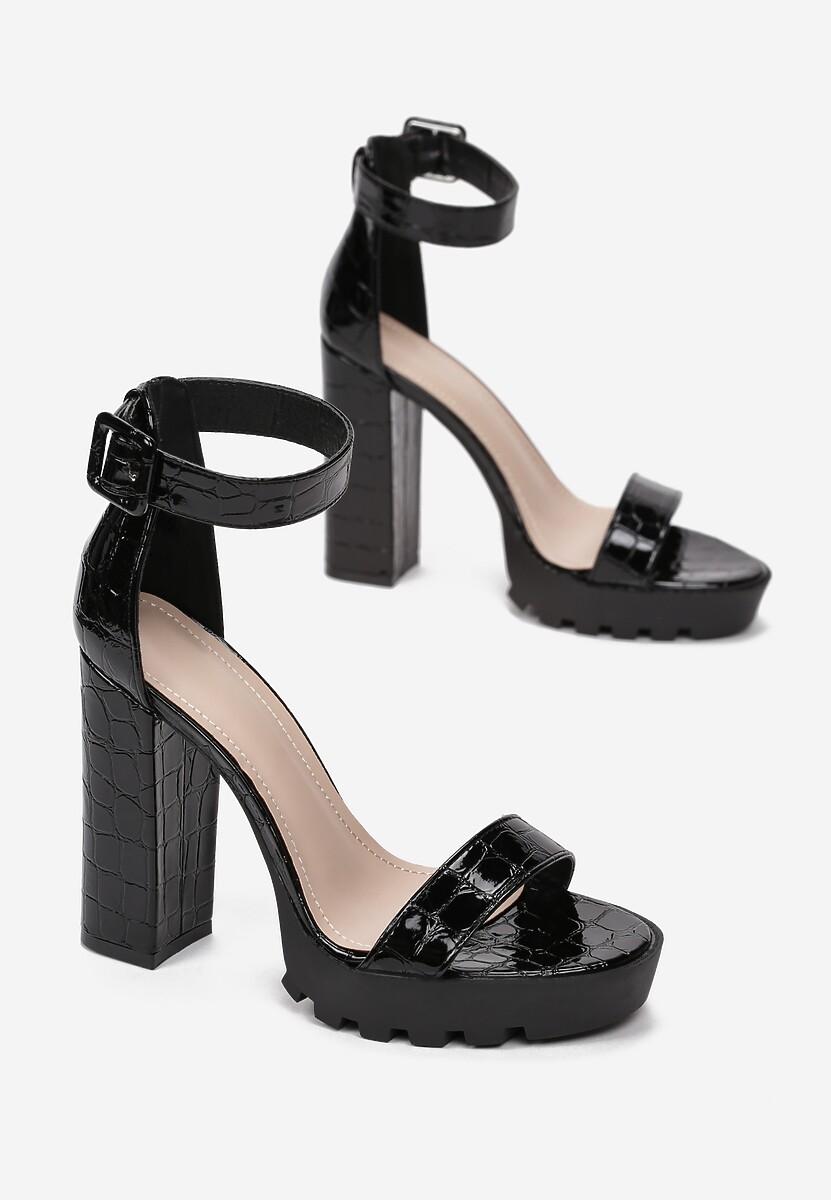 Czarne Sandały Oceaxie
