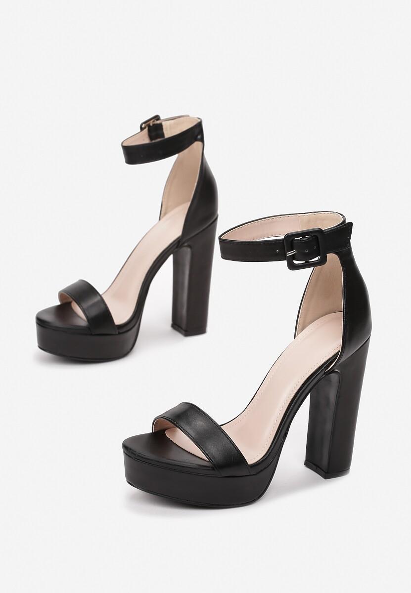 Czarne Sandały Arrielyn