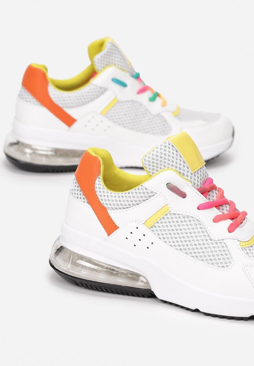Biało-Żółte Sneakersy Euphenea