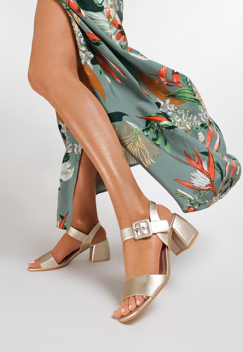 Złote Sandały Brirah Kod produktu: 119004