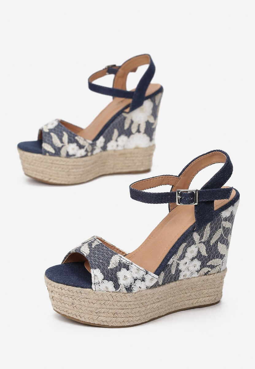 Granatowe Sandały Phalilacia