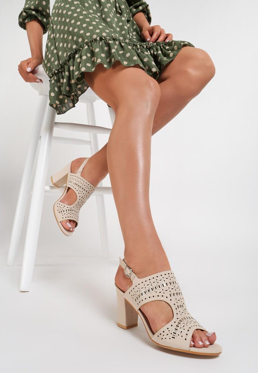 Beżowe Sandały Callalina Kod produktu: 119014