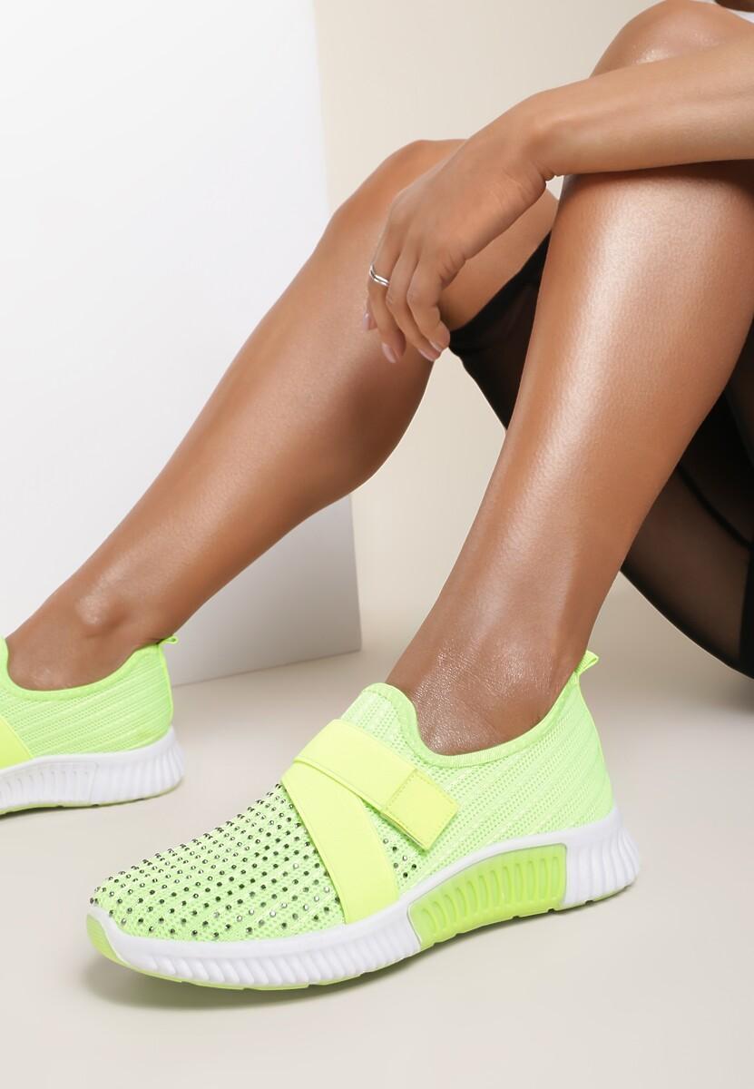 Limonkowe Buty Sportowe Palamia