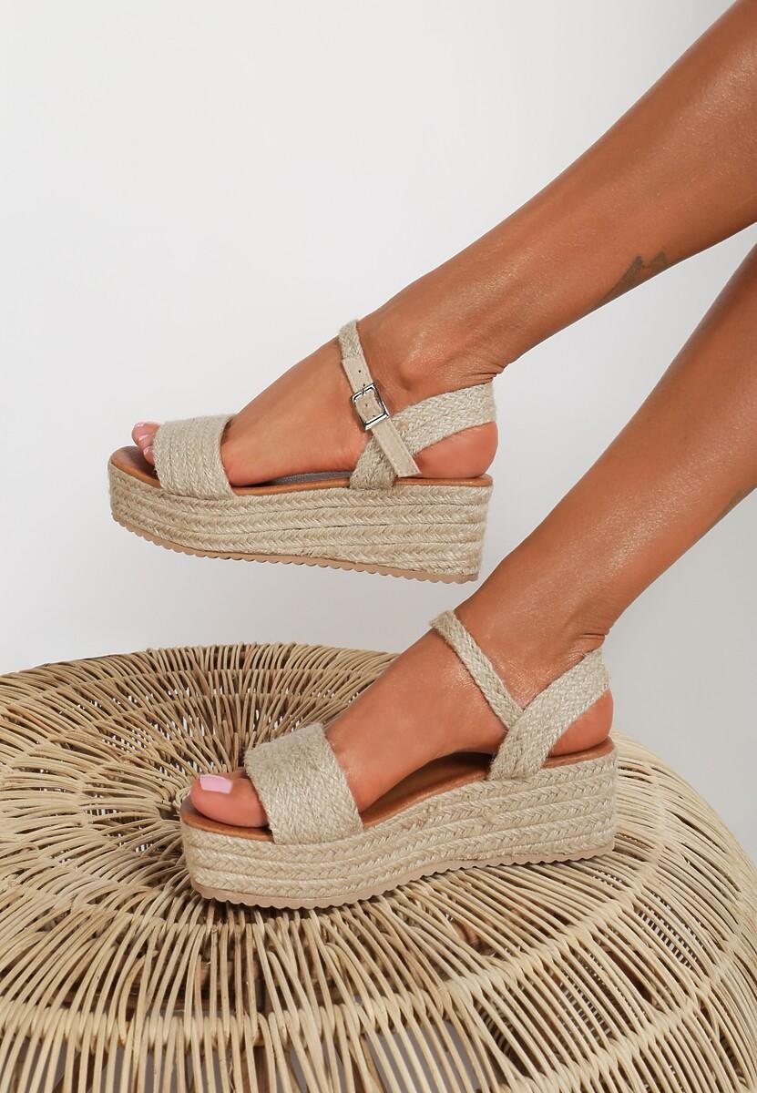 Beżowe Sandały Larainah Kod produktu: 118925