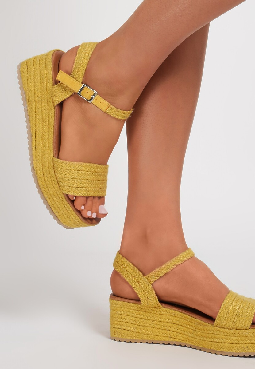 Żółte Sandały Larainah Kod produktu: 118957