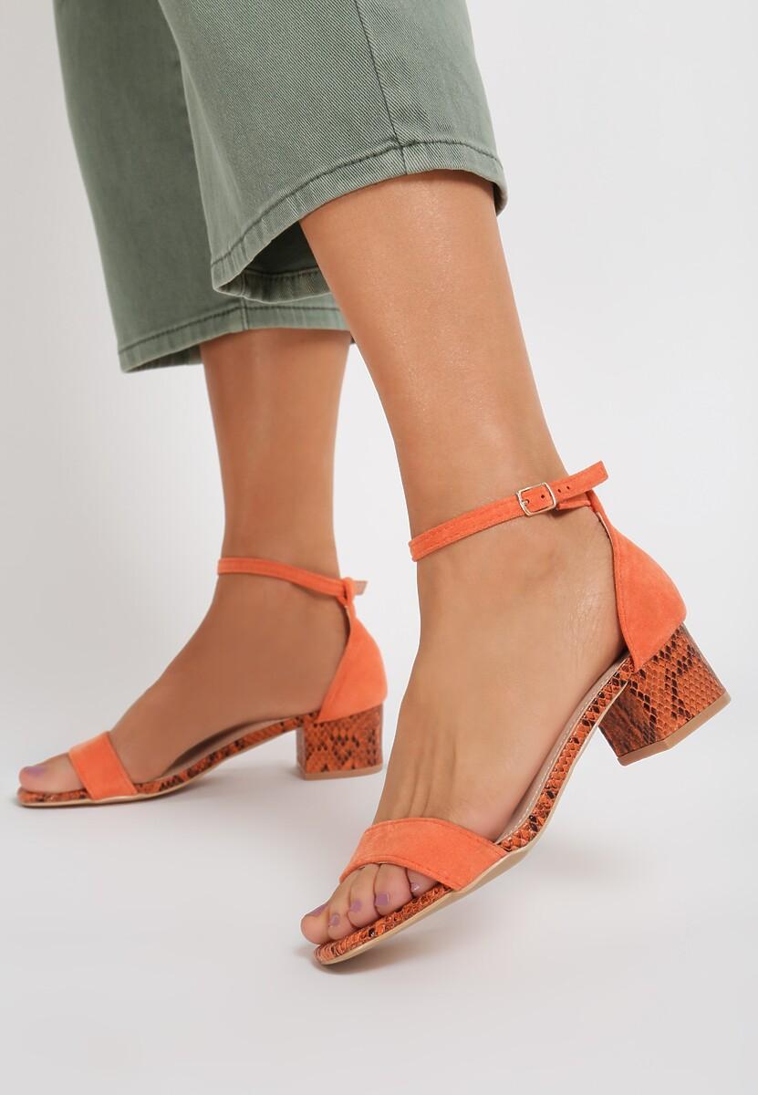 Pomarańczowe Wężowe Sandały Poreithe Kod produktu: 118980