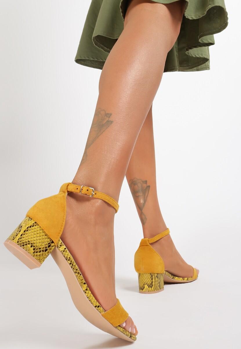 Żółte Wężowe Sandały Poreithe Kod produktu: 118981