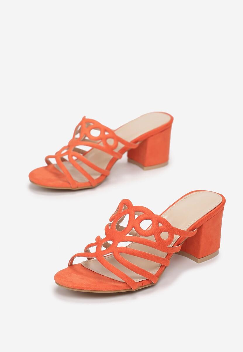 Pomarańczowe Klapki Doriella