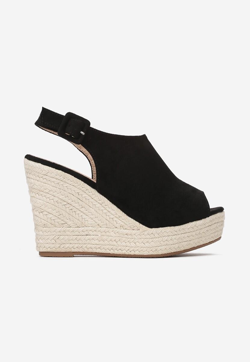 Czarne Sandały Dalilia
