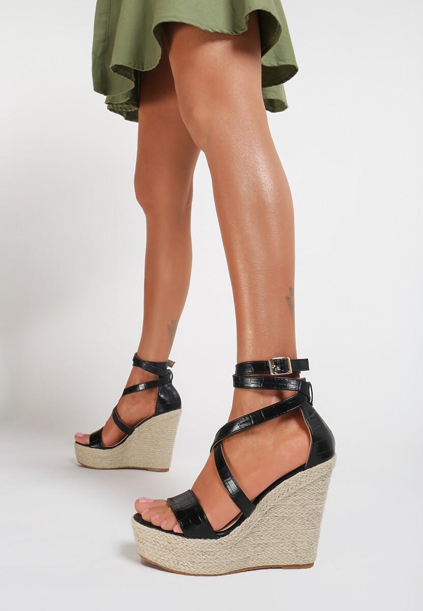 Czarne Sandały Zhaguna Kod produktu: 119386