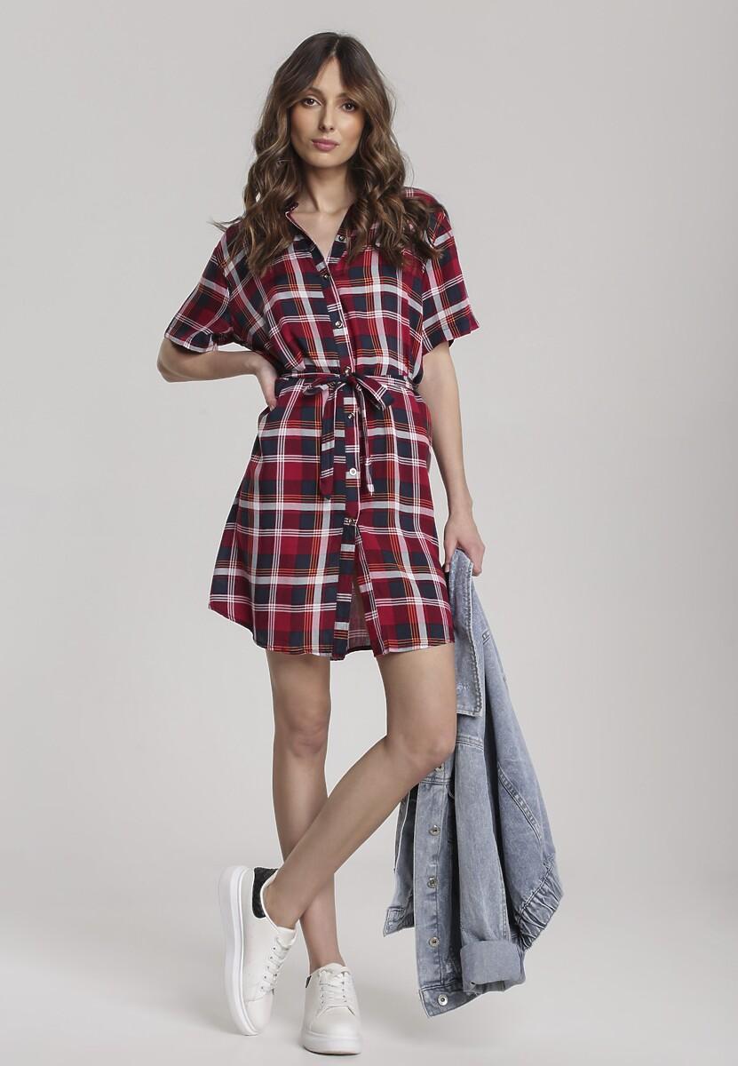 Bordowa Sukienka Talilee