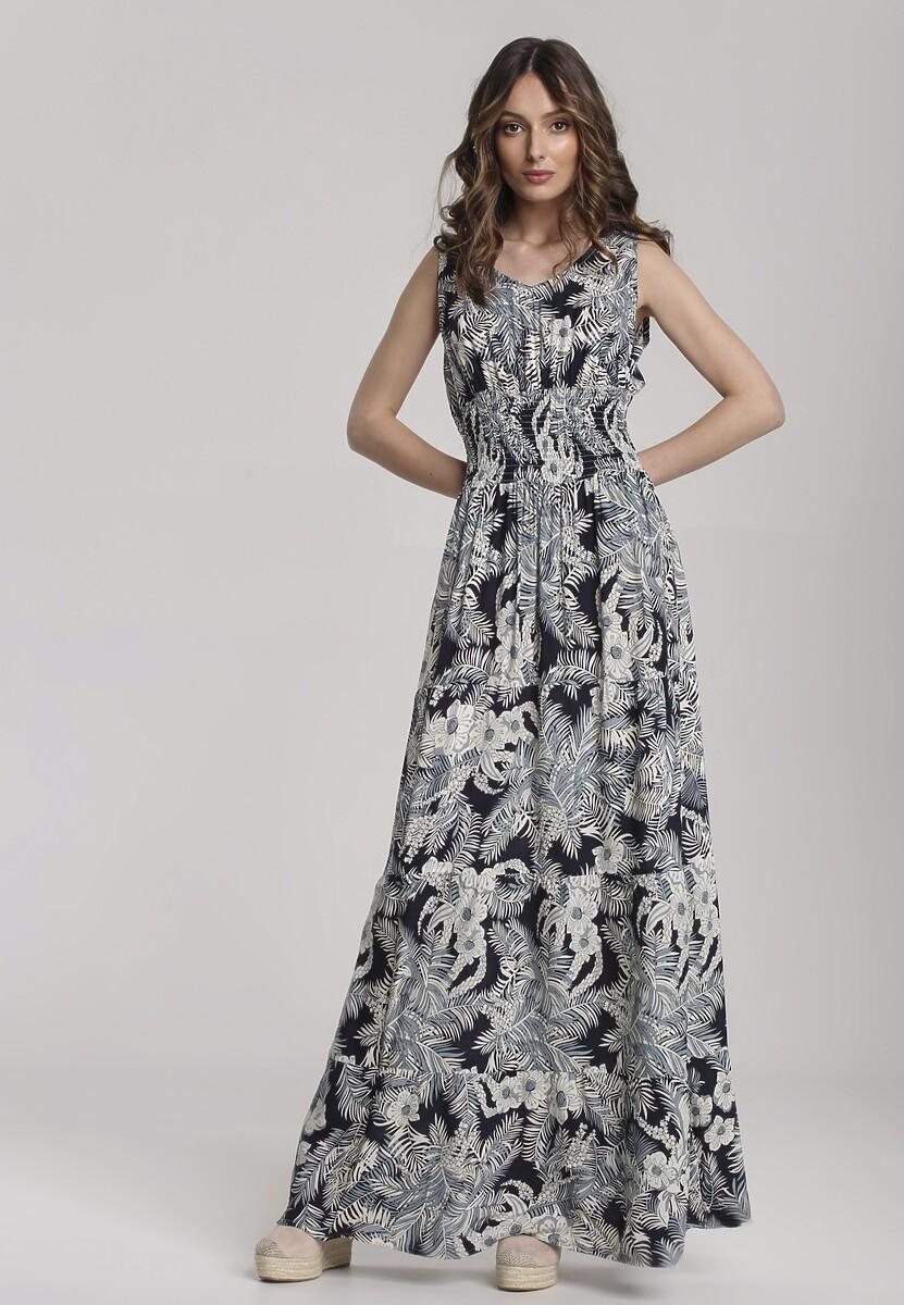 Granatowa Sukienka Salarila