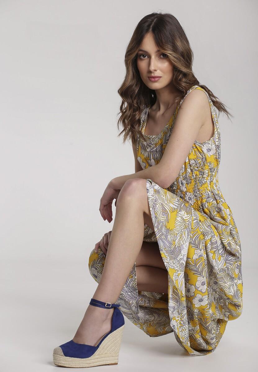 Żółta Sukienka Salarila
