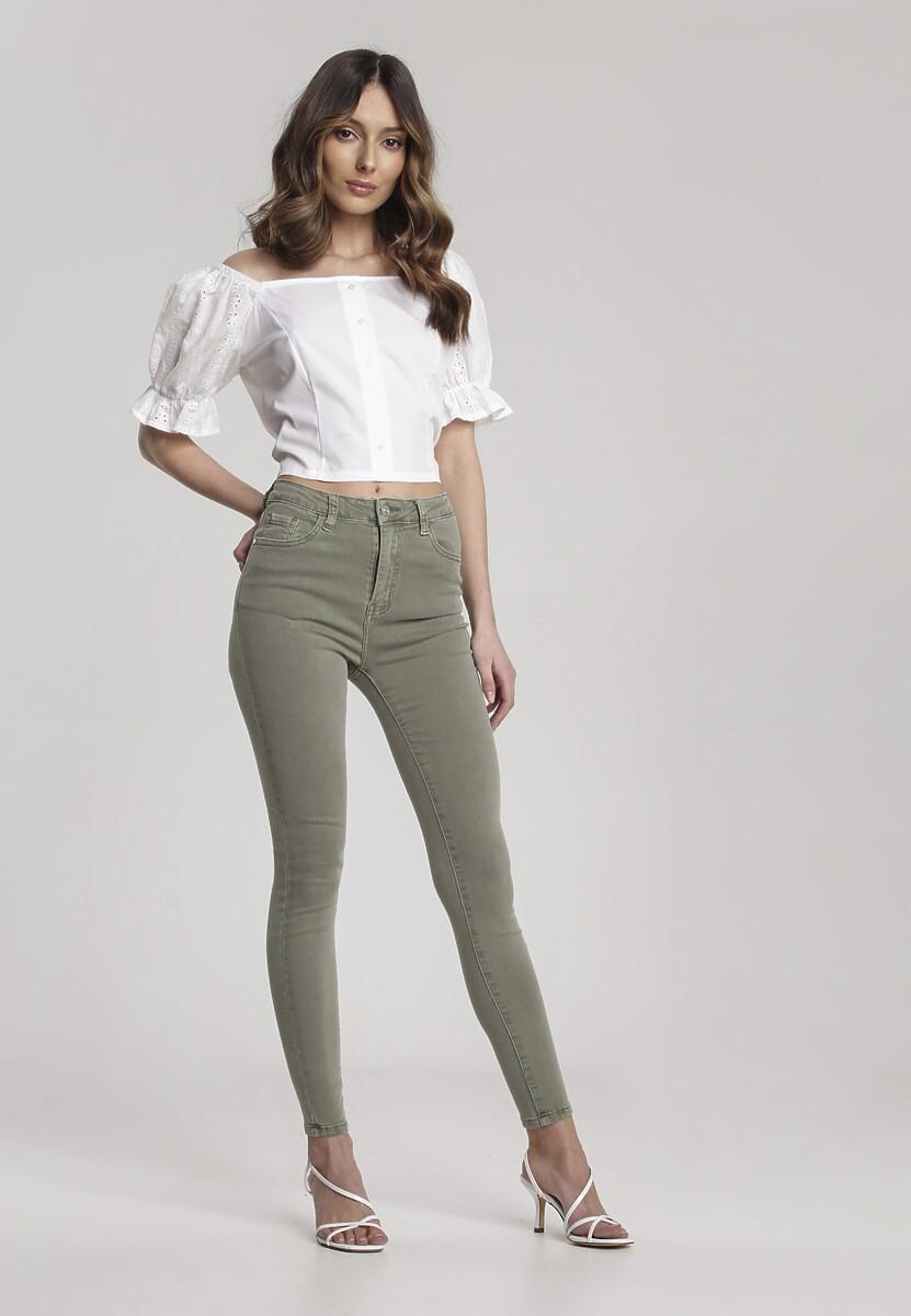 Zielone Jeansy Skinny Amarin