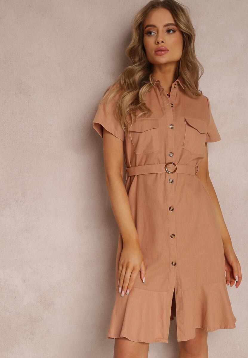 Różowa Sukienka Ginethia