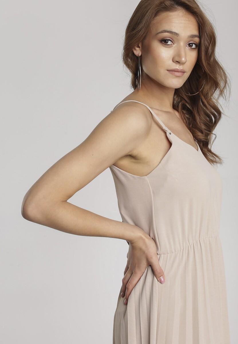Beżowa Sukienka Arriesea