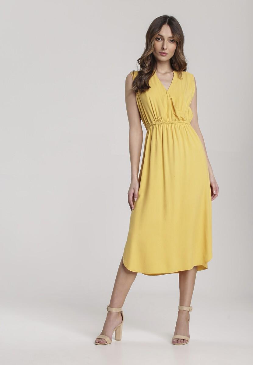 Żółta Sukienka Sireimere