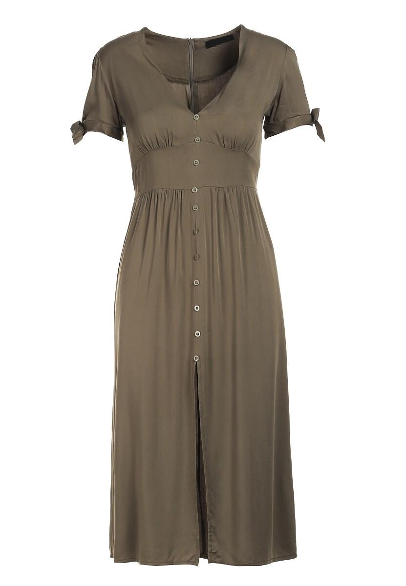 Ciemnozielona Sukienka Merephis