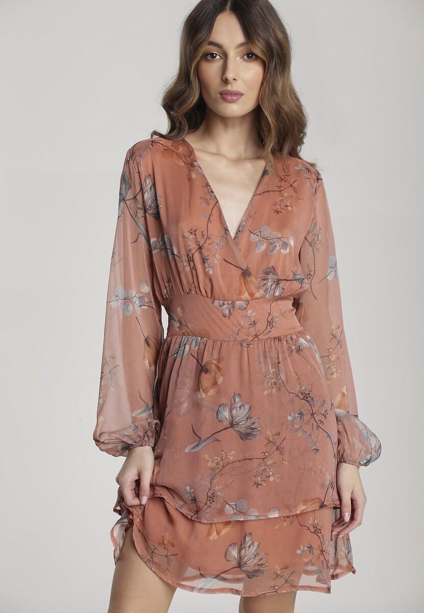 Łososiowa Sukienka Kimonisse Kod produktu: 119661